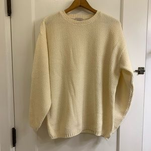 Vintage Chunky Knit Ivory Sweater